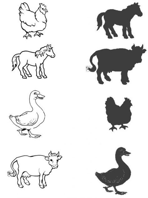 Animal Shadow Matching Worksheet (2)