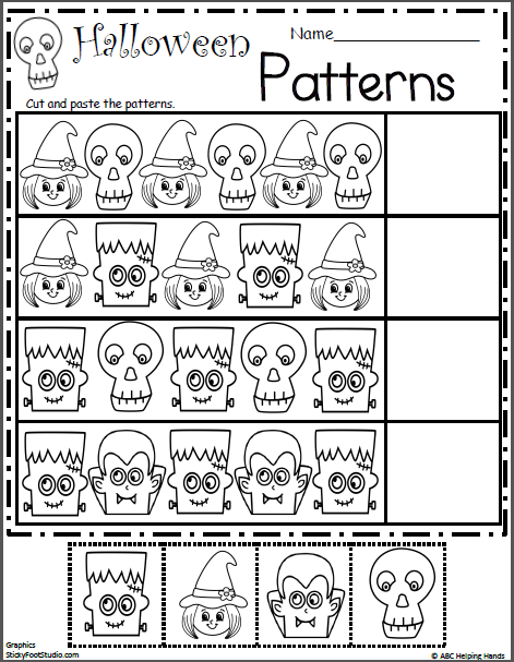 Halloween Pattern Worksheet