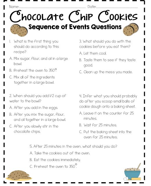 Read Like A Rock Star!   Sequence Of Events Activity