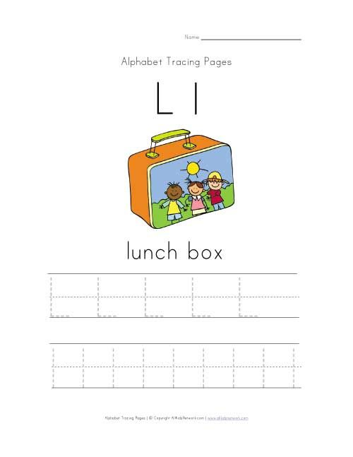 Letter L Is For Lunch Box