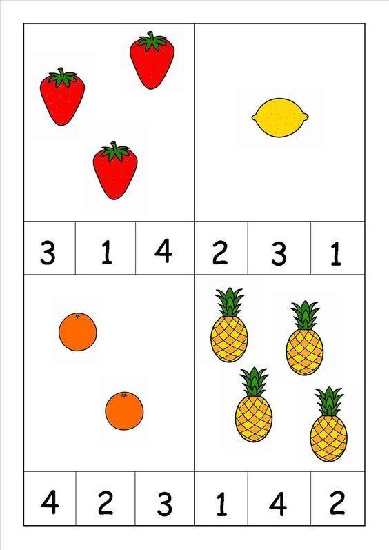 Fruit Worksheet For Kids
