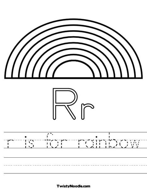 We're Going To Play School  R Is For Rainbow Worksheet From