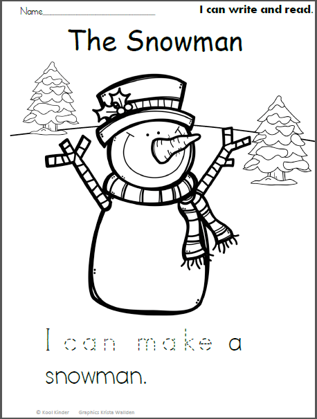Snowman Read And Trace