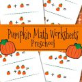 Math Pumpkin Worksheets