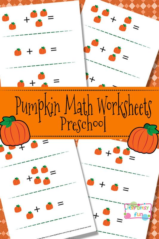Pumpkin Math Worksheets For Preschool