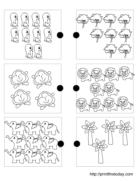 Matching Sets Worksheet For Pre