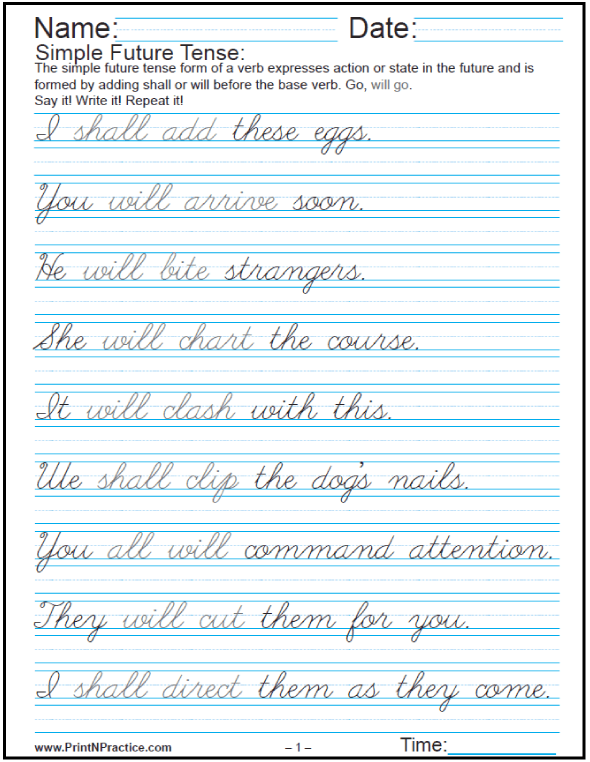 Easy Sentences In English  Past, Present, And Future