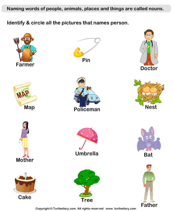 Words With Person Names 2 Worksheet