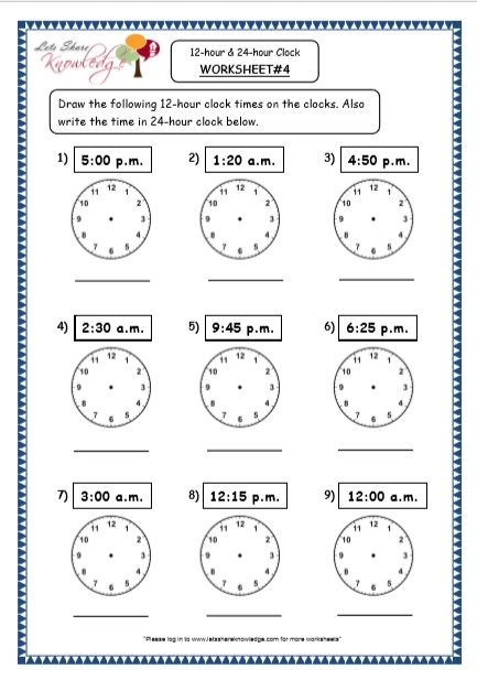 Grade 4 Maths Resources (7 1 Time