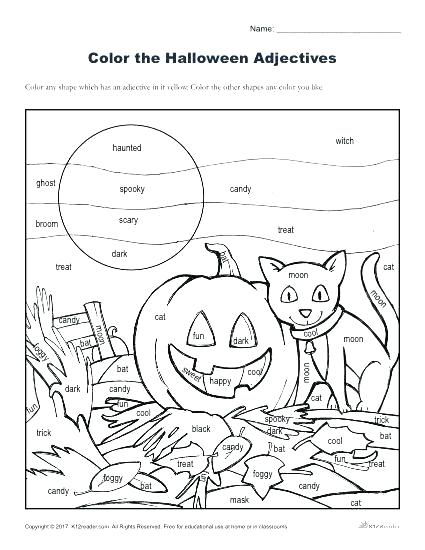 Halloween Language Worksheets – Petpage Co