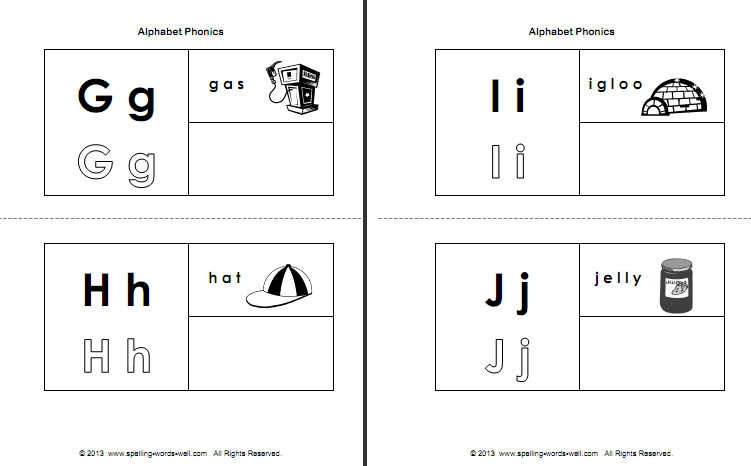 Alphabet Phonics Booklet & Phonics Activities