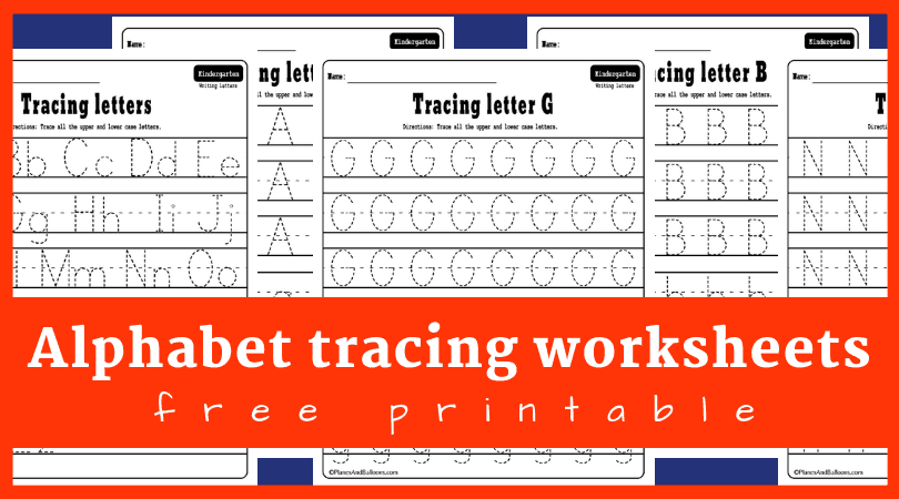 Alphabet Tracing Worksheets A