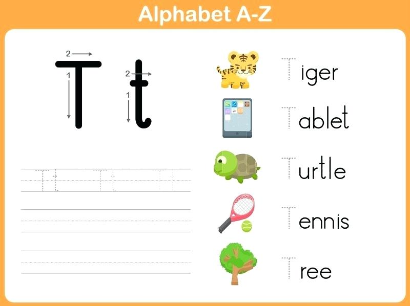 Alphabet Tracing Worksheets With Pictures Abc Tracing Worksheets