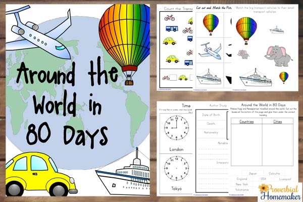 Around The World In 80 Days Unit Study (+ Free Printable