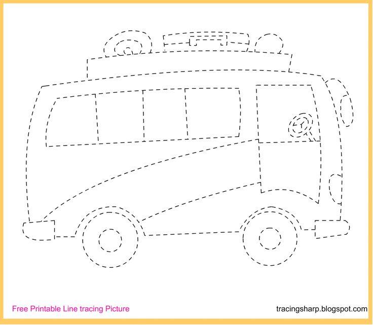 Free Tracing Line Printable Bus Picture Cakepins Com