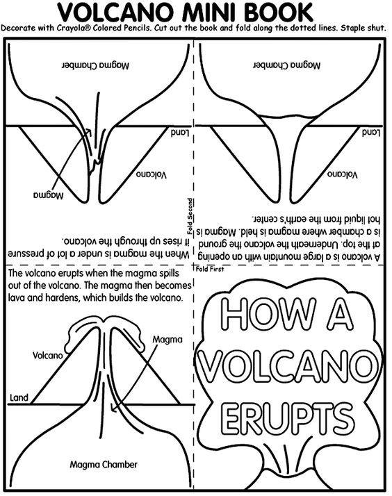 Free Printable Volcano Mini