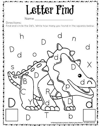 Cute Letter Find Worksheets With A Freebie