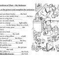 Prepositions Of Places Worksheets