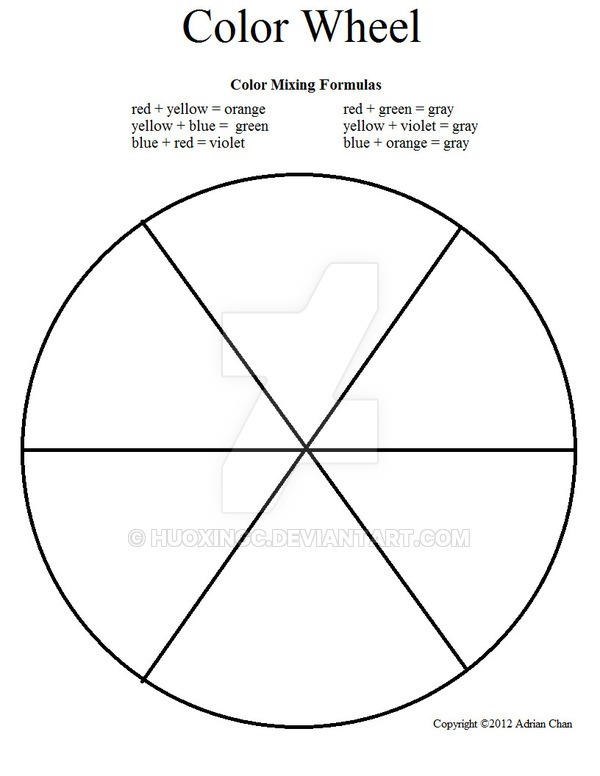 27 Images Of Blank Wheel Template 6 Sections