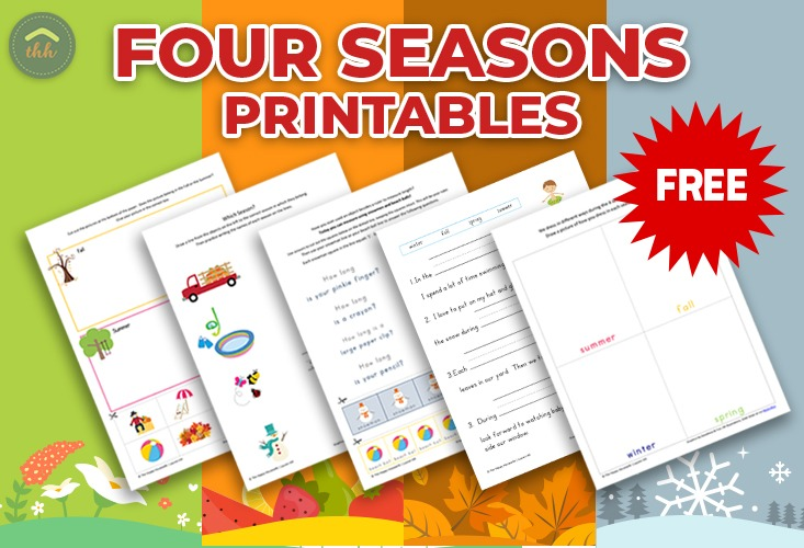 Four Seasons Worksheets  Free Printables