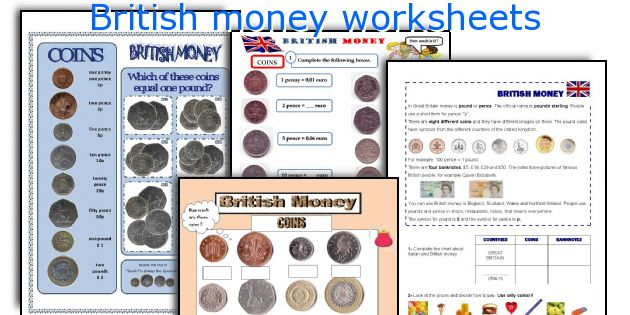 British Money Worksheets