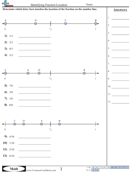 Estimating Fraction Worksheet And Lots Of Common Core Sheets