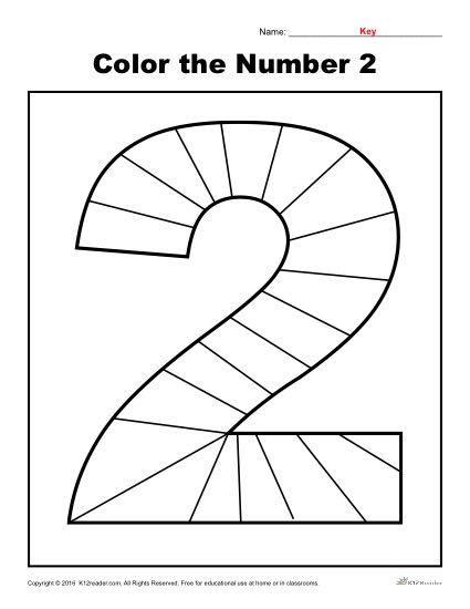 Color The Number 2