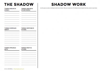 The Shadow Worksheet