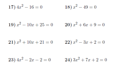 Solving Quadratic Equations By Factorising Worksheet (with