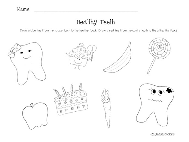 Dental Health Worksheets
