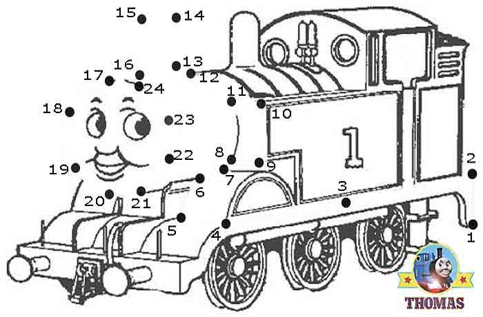 Play Free Online Game Thomas The Tank Engine Dot To Dot For Kids