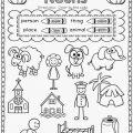 Nouns Worksheets First Grade
