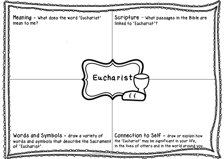 Sacrament Worksheets