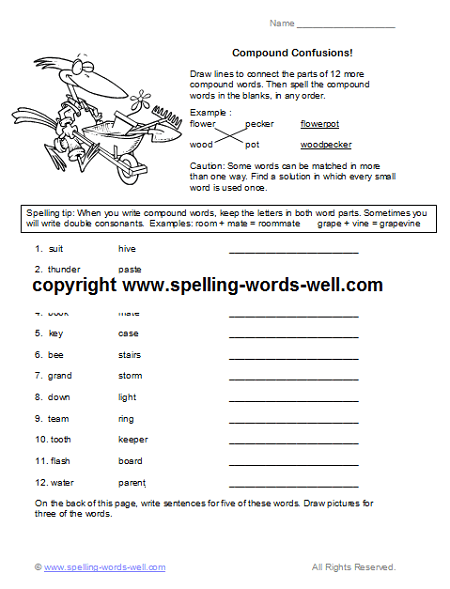 Free Fourth Grade Worksheets For Language Practice