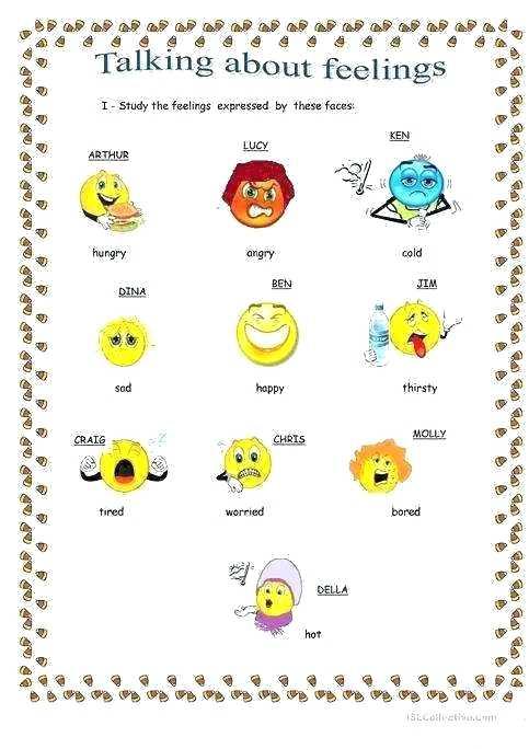 Feelings And Emotions Worksheet Free Printable Identifying Looking