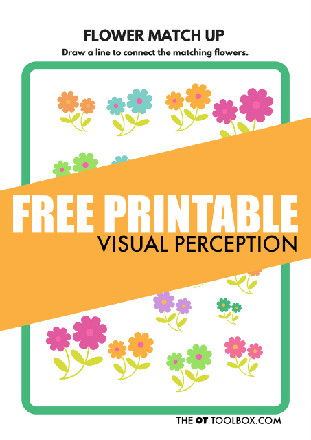 Flower Theme Free Visual Perception Worksheet