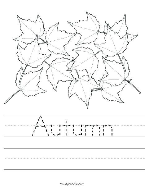 Free Autumn Worksheets