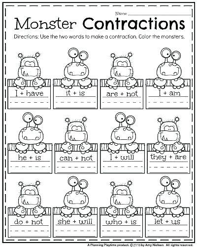 Contractions Worksheets Have Fun Teaching Crossword Puzzle Free