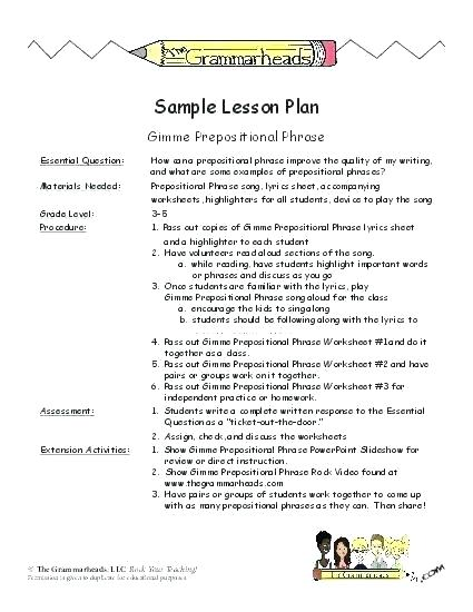 Easy Preposition Worksheets – Petpage Co