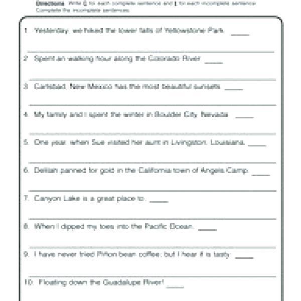 Sentence Writing Worksheets For First Grade – Katyphotoart Com