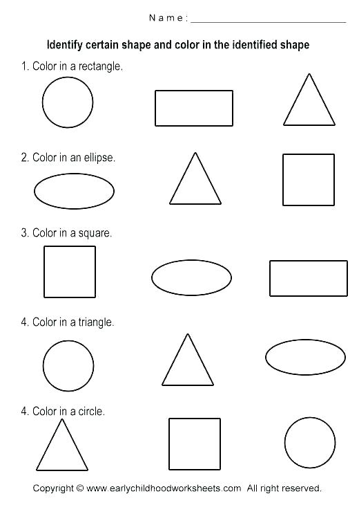 Shape Worksheets For 3 Year Olds