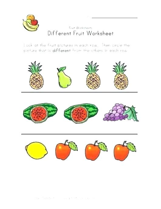 Fruits And Vegetables Worksheets Fruits And Vegetables Worksheets