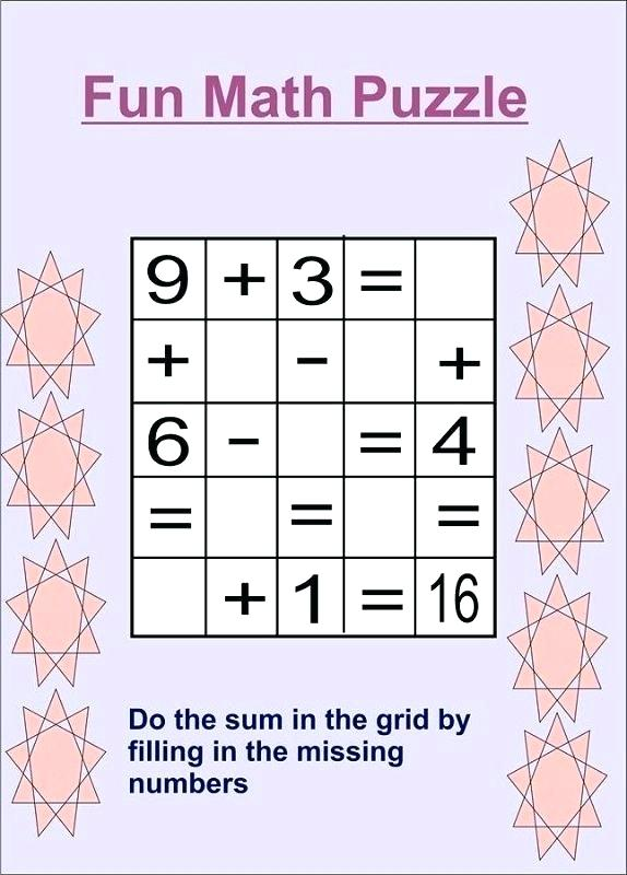Fun Puzzle Worksheets Fun Math Puzzle Worksheets For Middle School