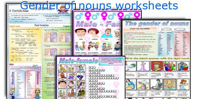 Gender Of Nouns Worksheets
