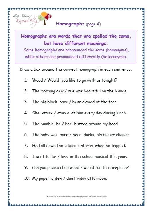 Grammar Worksheets For Grade 7
