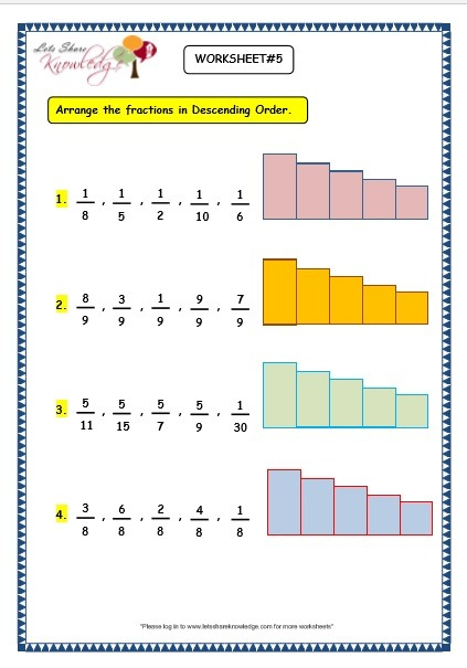 Grade 3 Maths Worksheets  (7 4 Ascending And Descending Order Of