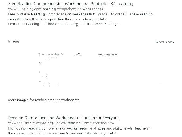 Grade Worksheets Reading Comprehension Worksheets For Grade