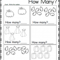 Worksheets How Many