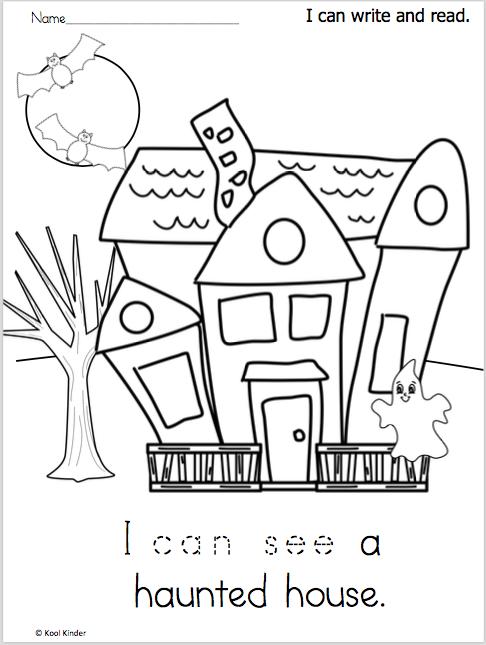 Free Halloween Writing Worksheet For Kindergarten