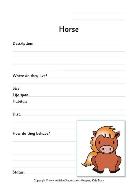 Horse Worksheets